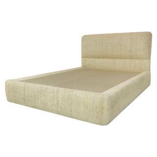 1980s Custom Queen Platform Bed For Sale