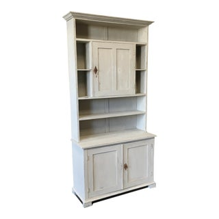 Swedish Antique Wall Bookcase Cabinet For Sale