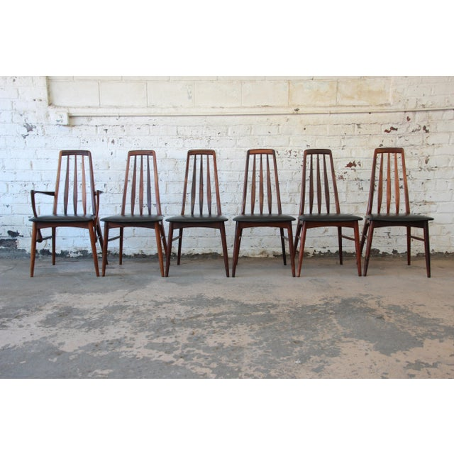 Niels Koefoed for Koefoeds Hornslet Eva Rosewood Dining Chairs- Set of 6 - Image 2 of 11