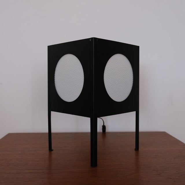 Mid-Century Modern Metal Cube Lamp, 1960s For Sale - Image 3 of 8