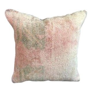 Antique Faded Oushak Pillow Case For Sale