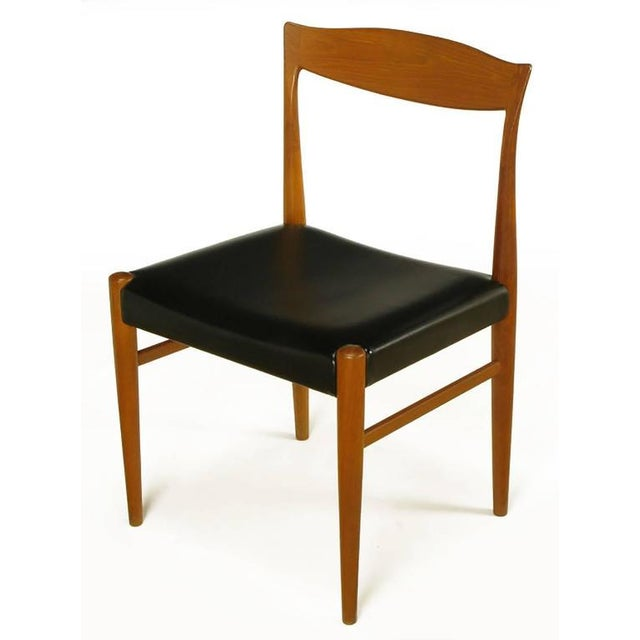 Six Teak Sculptural Back Dining Chairs, circa 1960s - Image 3 of 9