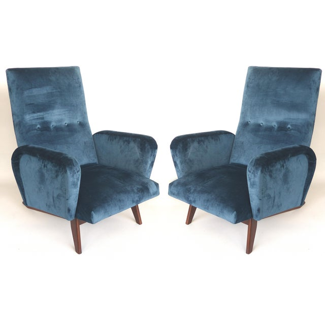 Petite Mid Century Italian Modern Club Chairs- a Pair For Sale - Image 13 of 13