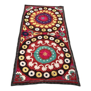 Red Suzani Wall Hanging For Sale
