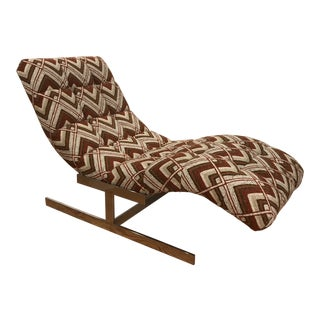 "1970s Vintage ""Wave"" Chaise Lounge by Carsons For Sale"