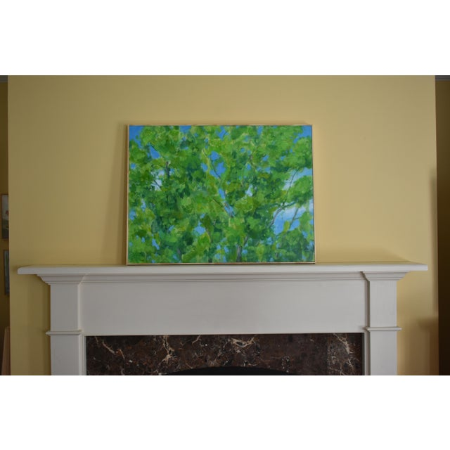 """2010s Contemporary Painting, """"Treetops Painting"""" by Stephen Remick For Sale - Image 11 of 12"""