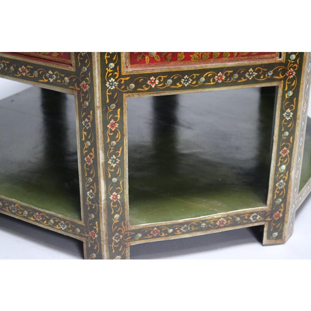 Anglo-Indian Painted Wooden Coffee Table For Sale - Image 3 of 6