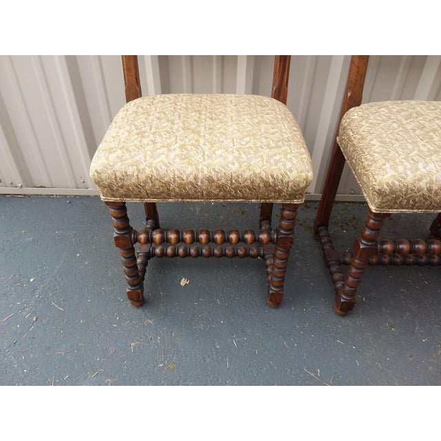 Antique Fortuny Fabric Hall Chairs - a Pair For Sale In San Antonio - Image 6 of 11