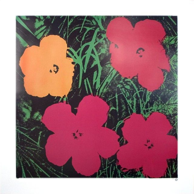 Andy Warhol-Flowers (One Orange, Three Red)-1986 Poster - Image 2 of 3