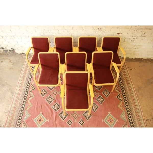 Danish Modern Armchairs by ICF Finland - Set of 8 - Image 2 of 9
