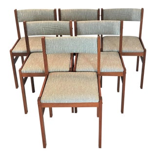 1960s Danish Mid-Century Jensen Møbler Teak Dining Chairs - Set of 6 For Sale