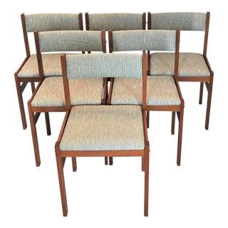 1960s Vintage Danish Modern Jensen Møbler Teak Dining Chairs - Set of 6 For Sale
