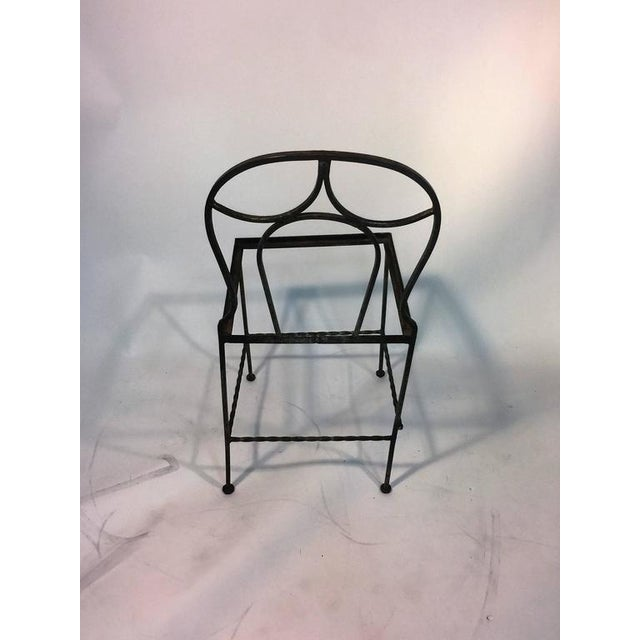 BEAUTIFUL ART DECO WROUGHT IRON VANITY AND CHAIR BY FERRO BRANDT For Sale - Image 10 of 11