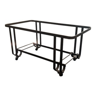 Industrial Metal Cart Coffee Table For Sale
