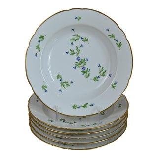 Antique Old Paris Cornflower Sprig Soup Bowls - Set of 6