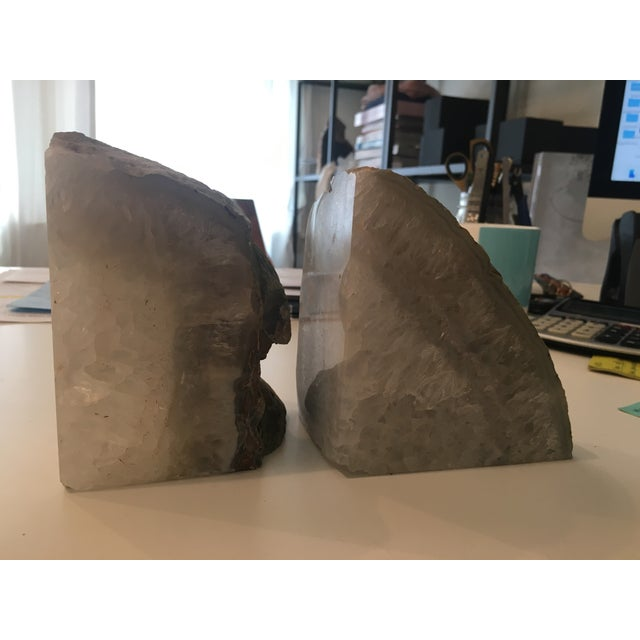 Natural Crystal Bookends - A Pair - Image 3 of 3