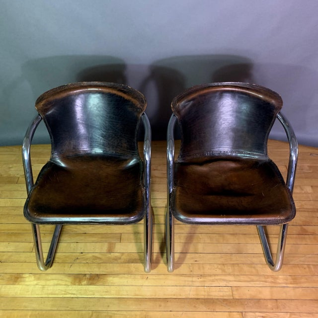 Vintage Willy Rizzo Dining Chairs for Cidue, Italy 1970s For Sale In New York - Image 6 of 13