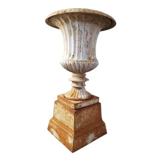 Cast Iron Garden Urn For Sale