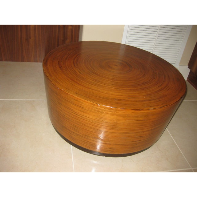 """Mid-Century Modern Round Drum Low Table 30"""" For Sale In Orlando - Image 6 of 12"""