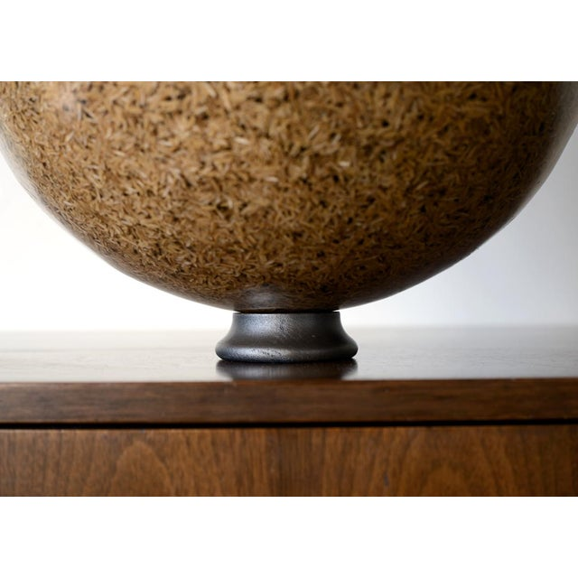 Rice Husk Lucite Sphere Sculpture For Sale - Image 4 of 7