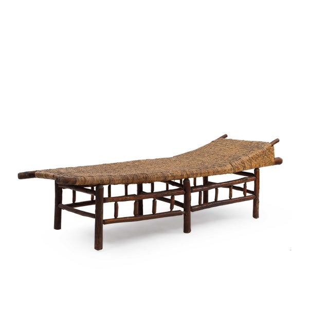 Wood American Rustic Old Hickory Chaise For Sale - Image 7 of 7