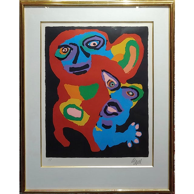 Karel Appel -Chien De Face -Original Artist Proof -Signed Artist Proof Lithograph - pencil signed . paper under glass -22...