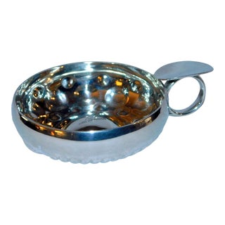Late 20th Century Etain Silver Plated Wine Taster For Sale