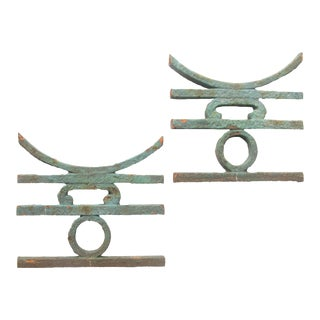 Chinoiserie Iron Architectural Elements, Pair For Sale