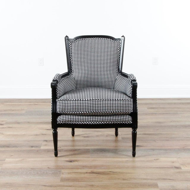 2010s Mid-Century Modern Highland House Black and White LIV Armchair For Sale - Image 5 of 5
