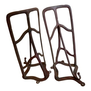 Antique Saddle and Tack Racks Made of Cast Iron - a Pair For Sale