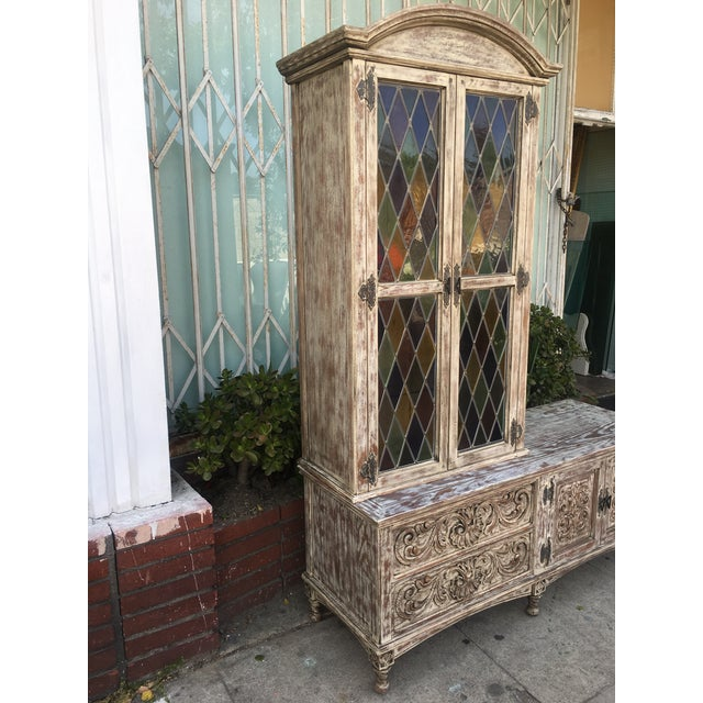 French Style Distressed Cabinet - Image 11 of 11