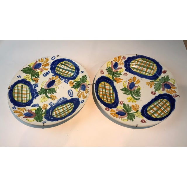 19th Century Country Dutch Gaudy Faience Plates - a Pair For Sale - Image 13 of 13