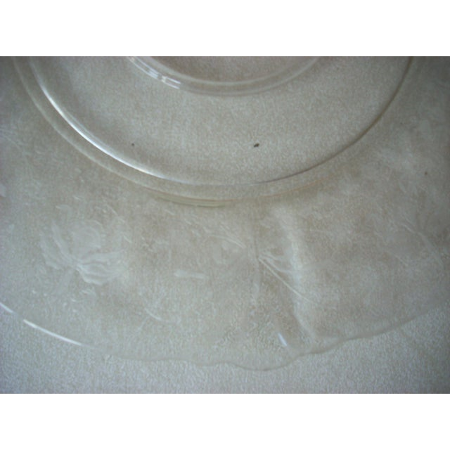 Traditional Cambridge Glass Serving Platter with Lily of the Valley Etching For Sale - Image 3 of 4