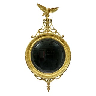 Regency Giltwood Convex Mirror For Sale
