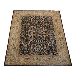 8' X 9' Vintage Wool Peshawar Oriental Rug For Sale