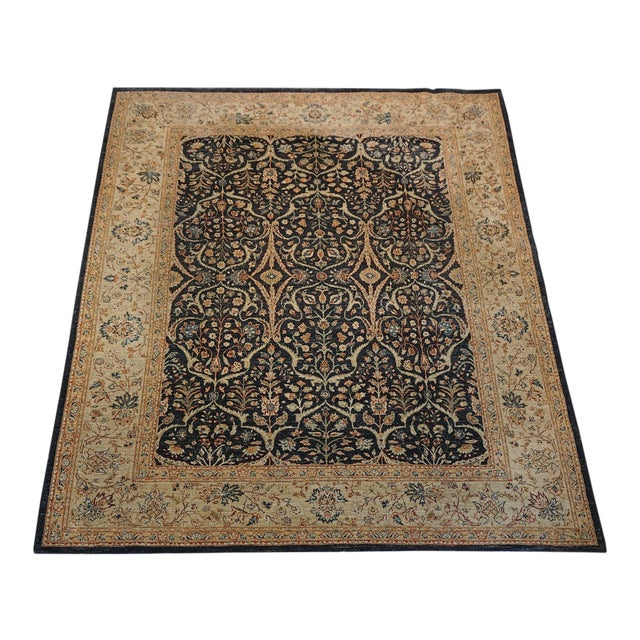 8' X 9' Vintage Wool Peshawar Oriental Rug For Sale