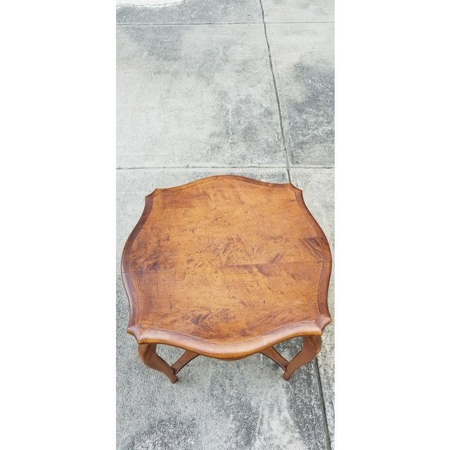 1900 - 1909 Antique Serpentine Side Table For Sale - Image 5 of 12