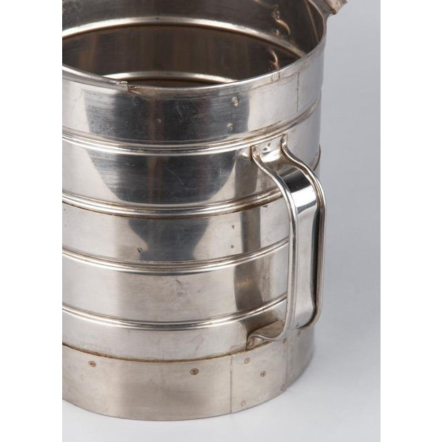 Silver 1950s French Silver Metal Measuring Milk Pitcher For Sale - Image 8 of 13