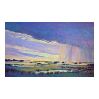 "Ken Elliott ""Rain Moving Along the Marsh"" Painting, 2019 For Sale"