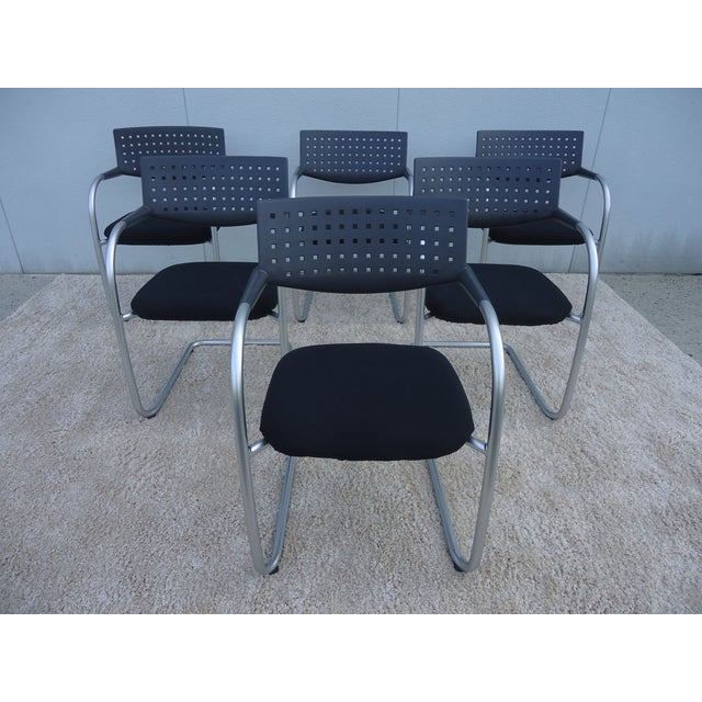 Modern Antonio Citterio for Vitra Visasoft Visavis Guest and Conference Chairs- Set of 6 For Sale - Image 13 of 13