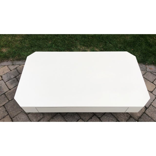 Plastic 1980s Geometric Laminate Coffee Table For Sale - Image 7 of 13