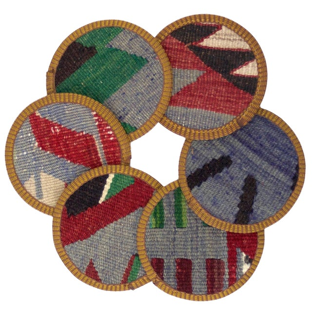 Hazan Kilim Coaster Set of 6 - Image 1 of 2