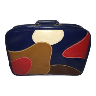 Vintage Boho Multi Color Suitcase