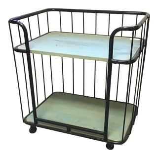 Modern Indian Rolling Drink Cart For Sale