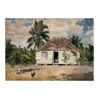 "Winslow Homer ""Native Huts, Nassau"" Print"