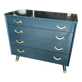 Blue Lacquer Dresser For Sale