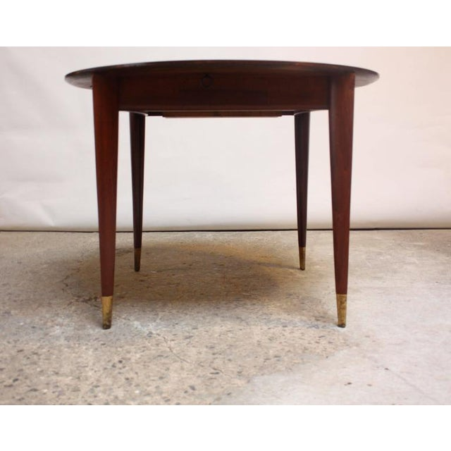 Gio Ponti Italian Walnut Dining Table for Singer & Sons - Image 10 of 11