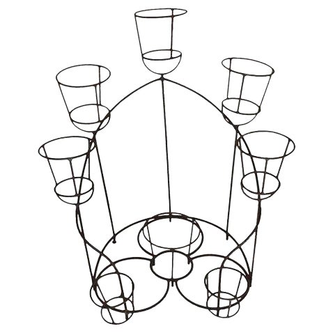 French Wrought Iron Plant Stand For Sale