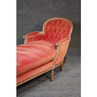 Red Louis XVI Style Chaise Lounge Preview
