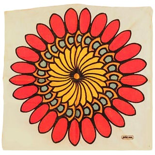 Peter Max Flower Cloth For Sale